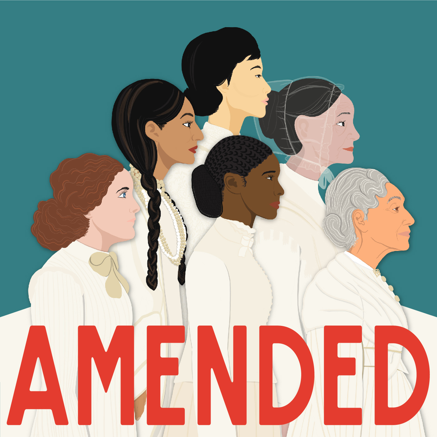 Amended podcast, featuring suffrage and women's history